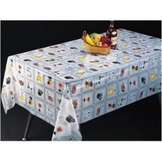 Клеенка Transparent PVC Tablecloth 1,37*30 прозрачная с рисунком TT-2546