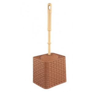"""Набор (ёрш+подставка) квадрат """"РОТАНГ"""" какао"""