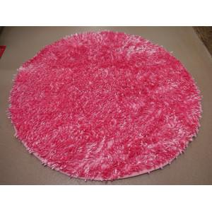 """Коврик д/ван.комн."""" Макароны """" латекс 80*80 круглые блестящие розовый"""