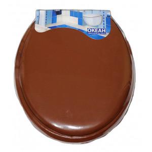 """Крышка для унитаза мягкая""""ZALEL""""коричневая"""