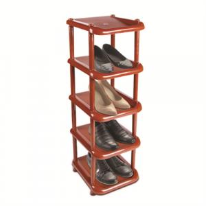 Полка для обуви узкая коричн 5-ярус