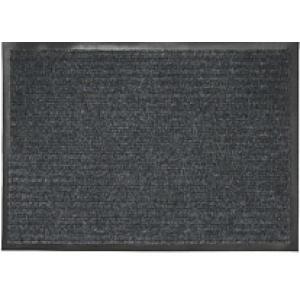 Коврик придверный влаговпитывающий с рельефом 40*60 серый  (1008)