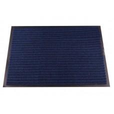 Коврик придверный влаговпитывающий с рельефом 40*60 синий  (1001)