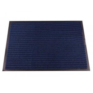 Коврик придверный влаговпитывающий с рельефом 50*80 синий  (1001)