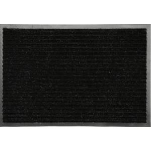 Коврик придверный влаговпитывающий с рельефом 50*80 черый (1006)
