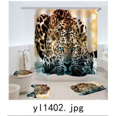 Комплект для ванной комнаты ZALEL фотопринт 4 предмета арт. yl1402